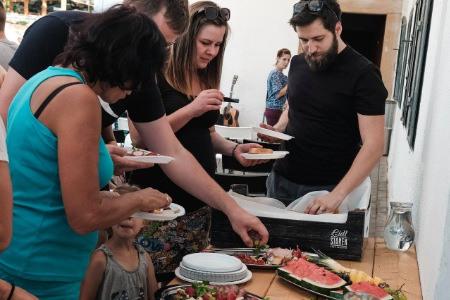 Letní občerstvení na setkání skupiny